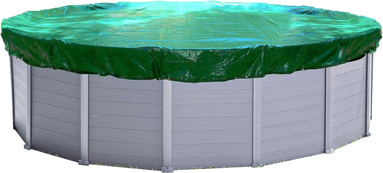 Quick-Star Cubierta de Invierno para Piscina Redonda 305-320 cm Lona Protectora 180g/m²