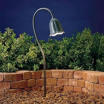 15349MST Tulip 1LT Incandescent/LED Hybrid Low Voltage Landscape Path And  Spread Light, Textured