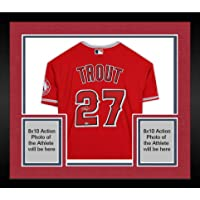 $1529 » Framed Mike Trout Los Angeles Angels Autographed Red Nike Authentic Jersey - Autographed MLB Jerseys