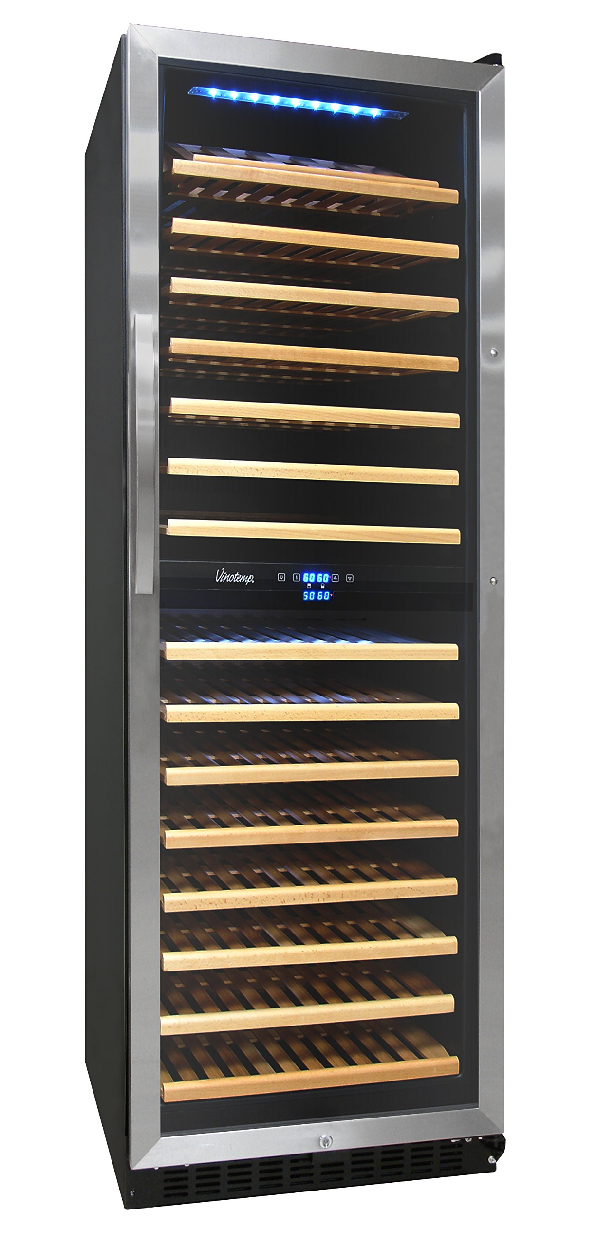 Vinotemp VNTVT-155SBW 155-Bottle Dual-Zone Wine Cooler by Vinotemp
