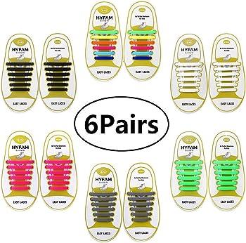 Hyfam Waterproof Elastic No Tie Shoelaces for Kids