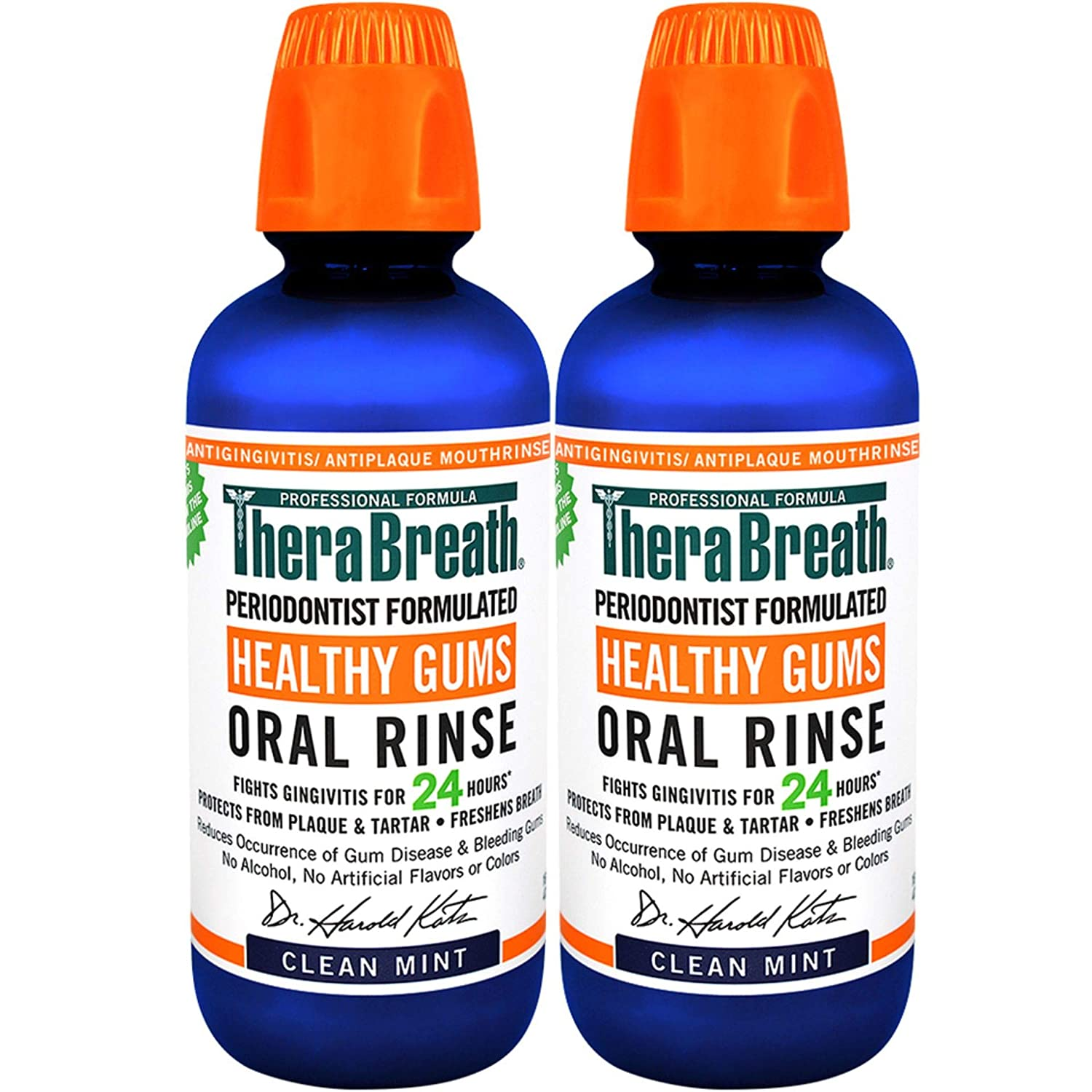 TheraBreath 24 Hour Healthy Gums Periodontist Formulated Oral Rinse, 16 Ounce (Pack of 2): Health & Personal Care