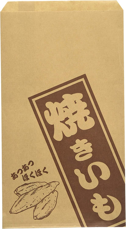 使い捨て容器 薄茶色 縦×横(mm):280×160(マチ無し) 業務用 焼きいも 販売用紙袋