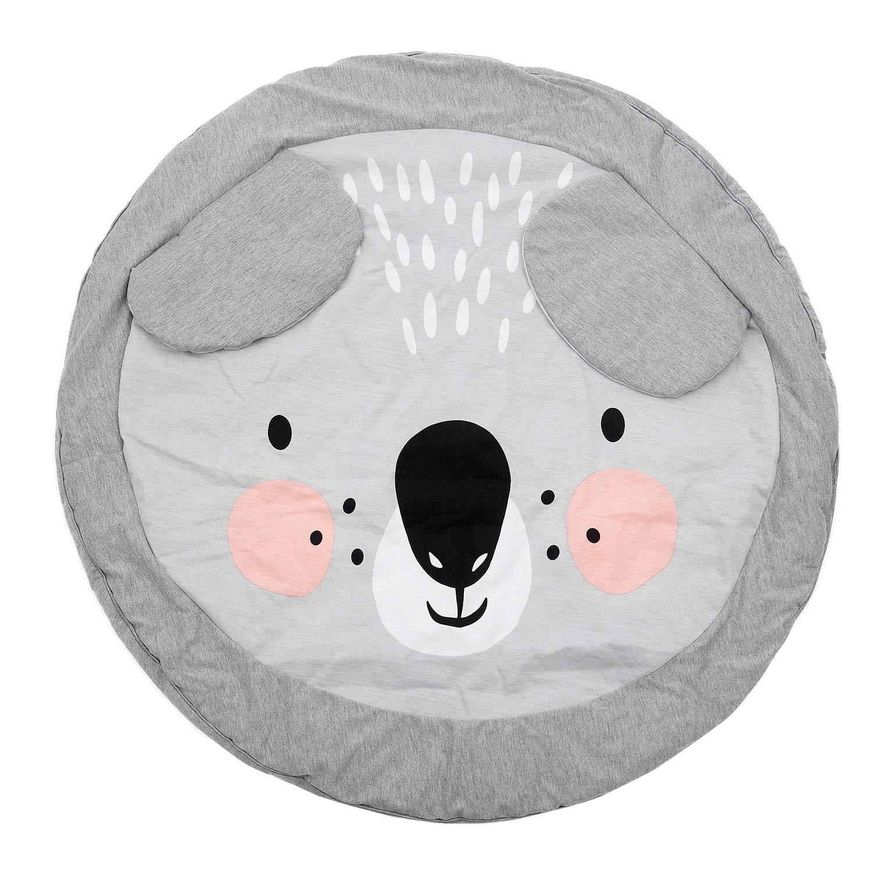 RETYLY 90Cm Estera De Jugar Juego para Ninos Estera Tapete Alfombra Redondo Manta De Rastreo De Algodon Alfombra De Piso para Ninos Decoracion De La Habitacion Ins Regalos para Bebes Koala