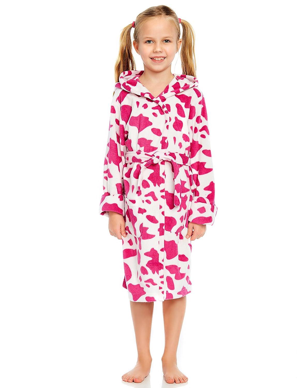 1132b5b7e Amazon.com  Leveret Kids Robe Girls Hooded Fleece Sleep Robe ...