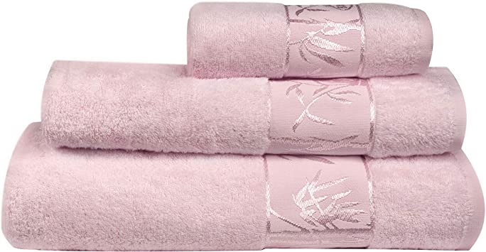 Marmaris Co. Bamboo Towels Set of 3 Extra Large, Soft, Absorbent and Sustainable Luxury Bath, Face and Hand Towel for Bathroom