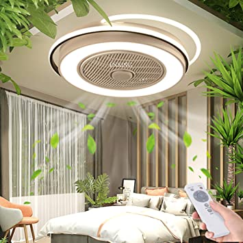 Led Ceiling Fan Invisible Fan Light Adjustable Modern Fan Ceiling Light With Lighting Bedroom Ceiling Lamp Dimmable Living Room Light With Remote Control Silent Fan Children S Room Amazon De Lighting
