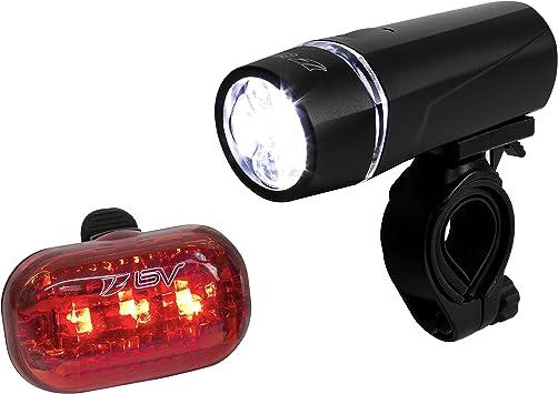 Luces de Bicicleta BV Set o Kit de Faros, Luces, Linternas de Bicileta (5 LED Luces Delanteras, 3 LED Traseras), De liberacion rapida.: Amazon.es: Deportes y aire libre