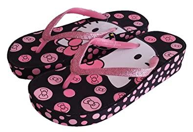 c21746228 Image Unavailable. Image not available for. Color: SANRIO Hello Kitty Girls  Wedge Flip Flops ...