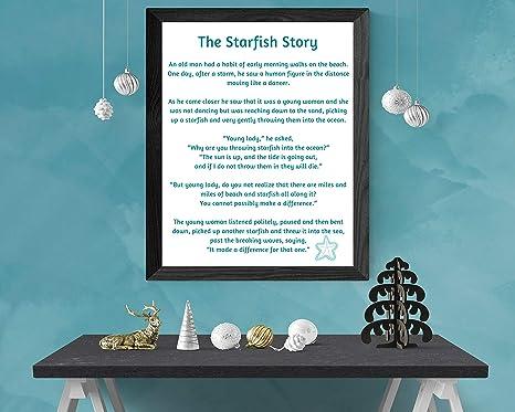 photo relating to Starfish Story Printable named : MalertaART Starfish Tale Starfish Poem through Loren