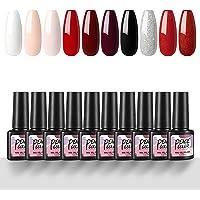 Peacecolor UV Gel Nagellak Set 10 Kleuren Gel Polish Nail Art Nagels Set Kleur Gel losweken UV Gel nagellak voor Nail…