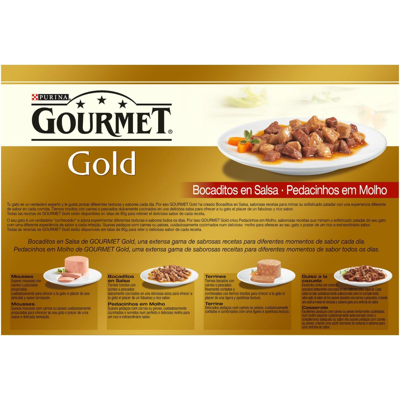 Gourmet - Gold Bocaditos en Salsa Pack Surtido 12 x 85 g - 1020 g: Amazon.es: Productos para mascotas