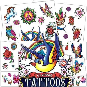 Amazon.com : Temporary Tattoos ~ Classic ~ Savvi ~ 50+ ~ Ed Hardy ...