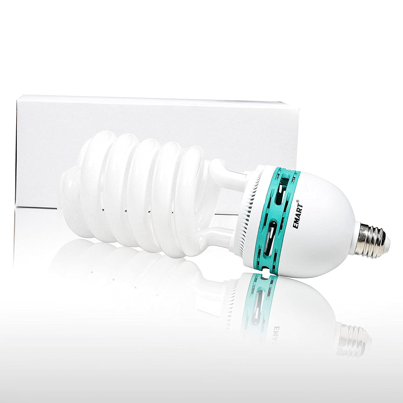 4 Pack Emartinc 4332004403 Emart 105 Watt Full Spectrum Photography Lighting Photo Studio Light Bulb 5500K CFL Daylight Balanced