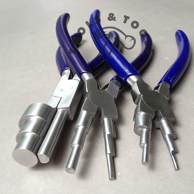6 en 1 & 3 Paso Wrap N Tap Alicates Jewelry Cables Bail Hacer Herramienta 13 tamaños 3 Pcs: Amazon.es: Hogar