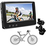 FEISIKE Handlebar Bike Mirror, Bicycle Mirror with 4.3'' HD Night Vision Function,195° Super Wide Angle, Bracket…