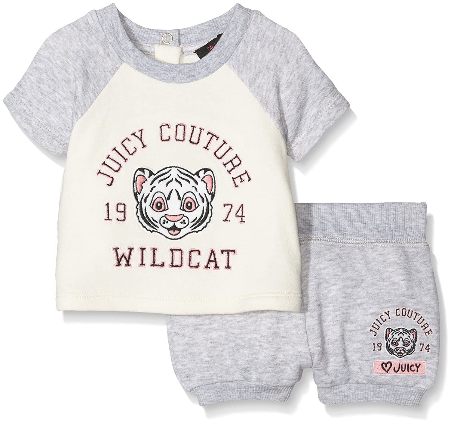 Juicy Couture Baby-Mädchen Ft Graphic Colorblock Pullover Set