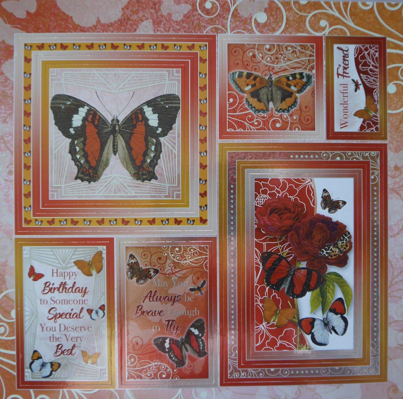 Hunkydory Wonderful Wings 8x8 Mirri Craft Stacks MSTACK103