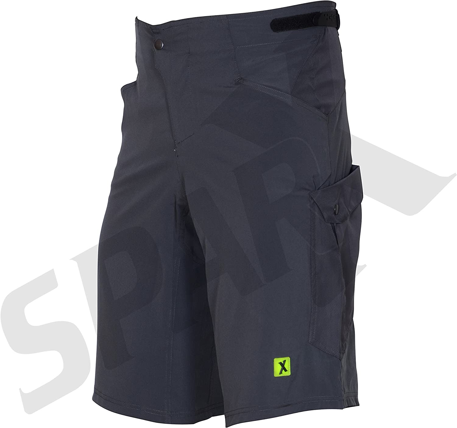 Mens Baggy MTB Mountain Bike Shorts with Removable Cycling Short Liner 3D Padded 2XL 38-40, Grey