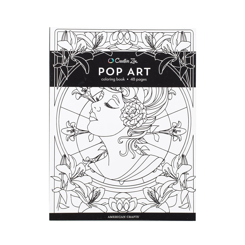 Amazon American Crafts 375320 Pop Art Creative Zen Coloring Book