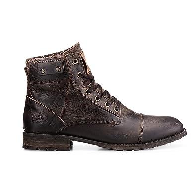 a598070eb01ffc Cox Herren Winter Schnürschuh - Winterstiefel - Boots - Glattleder - hoher  Schnür Stiefel - robuste