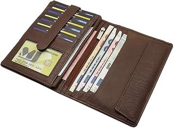 d02725432a7d0 myledershop Große Büffelleder Herren Brieftasche Geldbörse Geldbeutel  Portemonnaie Portmonaise Geldtasche