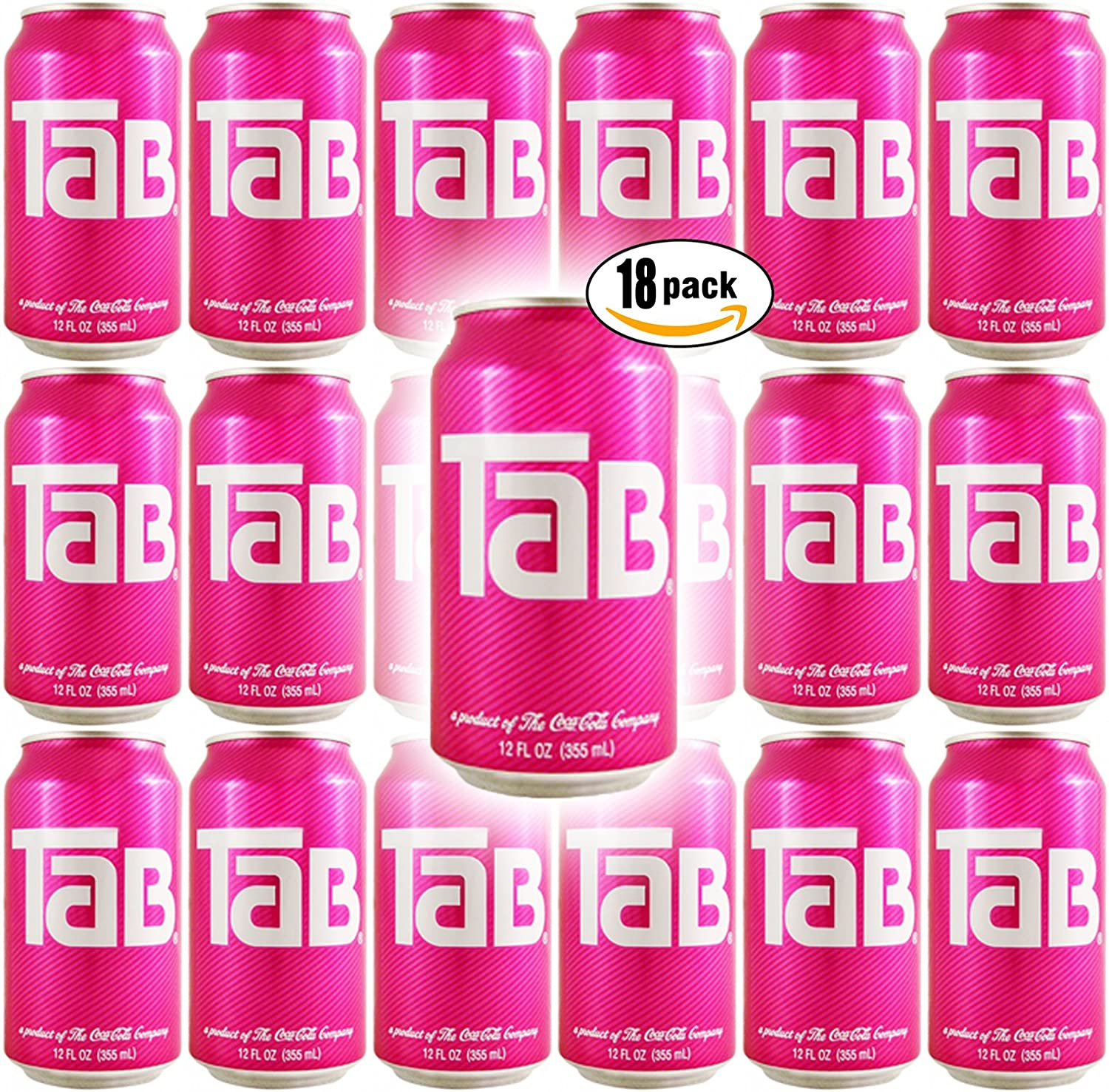 TaB Diet Cola Soda, 12oz Can (Pack of 18, Total of 216 Oz)
