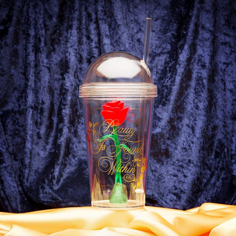 Zak Designs BUBA-S960 Beauty And The Beast Kid's Tumbler, 22 oz, Enchanted Rose by Zak Designs (Image #5)