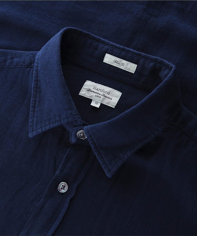 Hartford Hombres Camisa de tormenta de algodón Piqué Slim