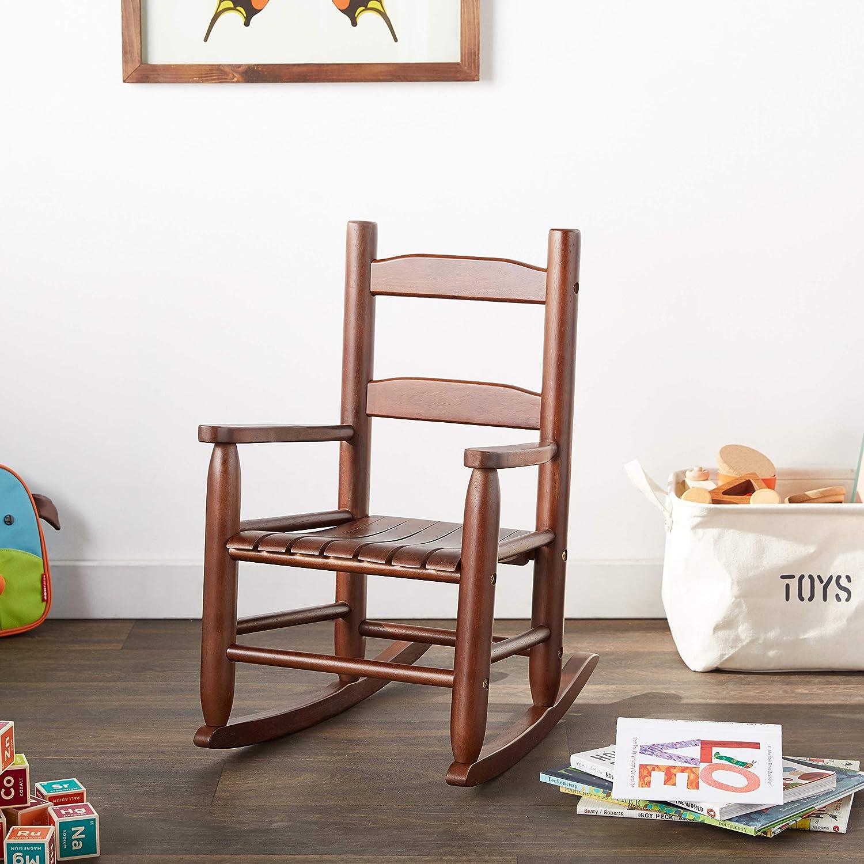 14.5 W x 19.75 D x 23.75 H Lipper International 555WN Childs Rocking Chair Walnut Finish