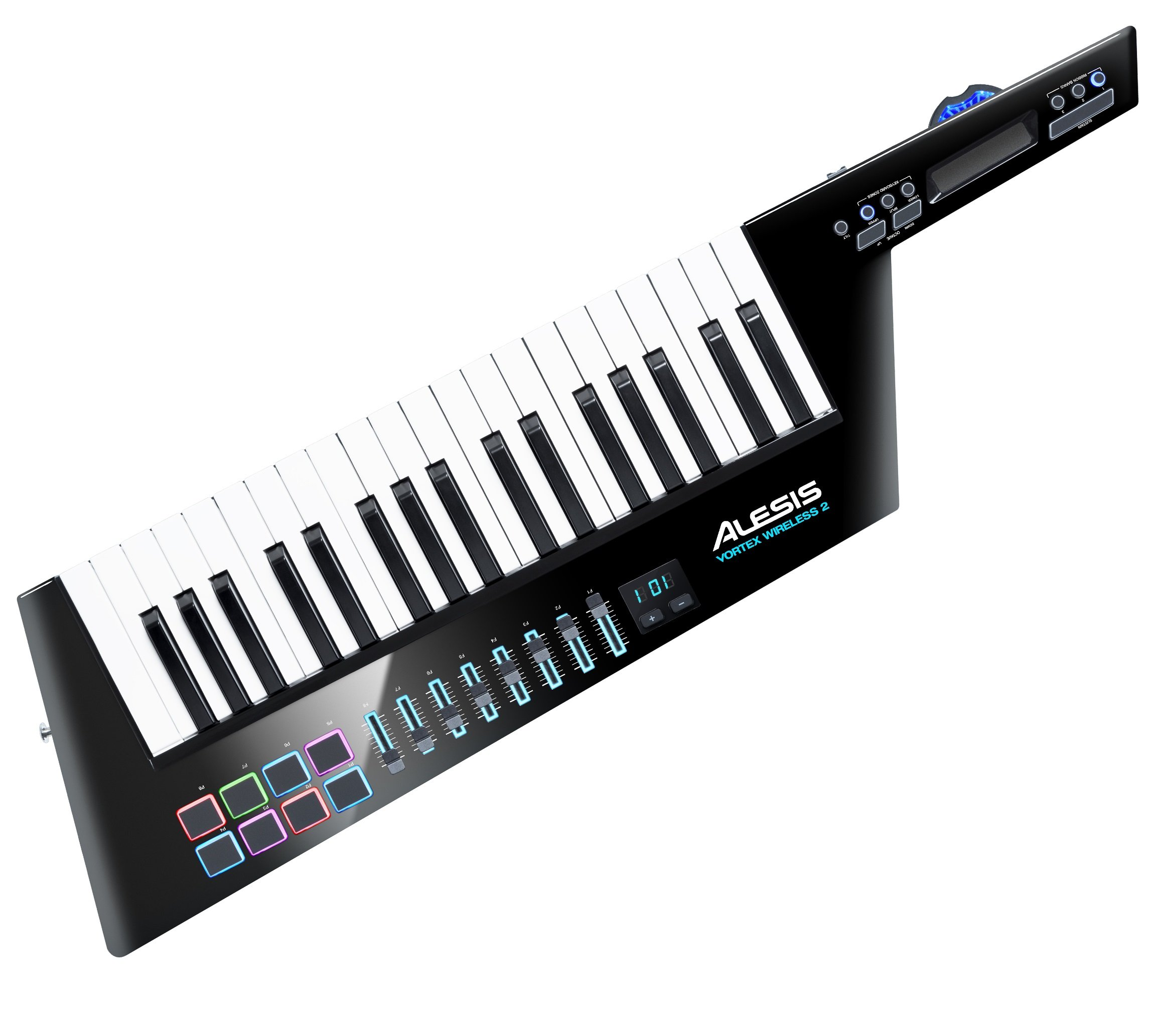 Alesis Vortex Wireless 2 - High-Performance USB / MIDI Wireless Keytar Controller with Premium Software Suite Included