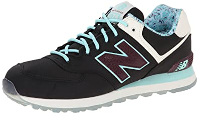 New Balance Men's ML574 Luau Collection Running Shoe, Black/Blue, ...
