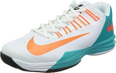Nike Lunar Ballistec - Zapatillas de tenis para hombre, color blanco/azul/naranja, UK12: Amazon.es: Zapatos y complementos