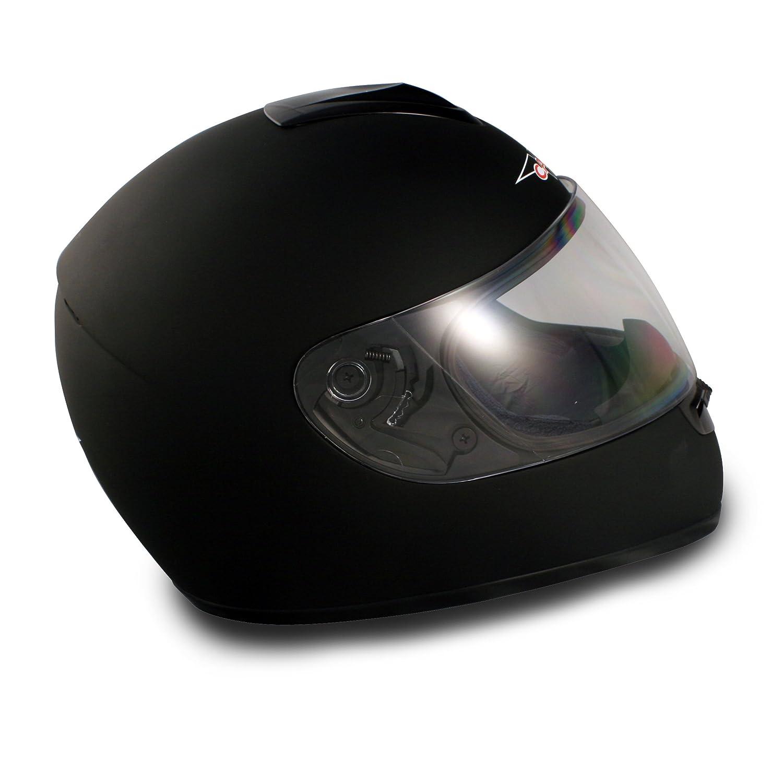 VCAN V136 Flat Black Small Full Face Helmet