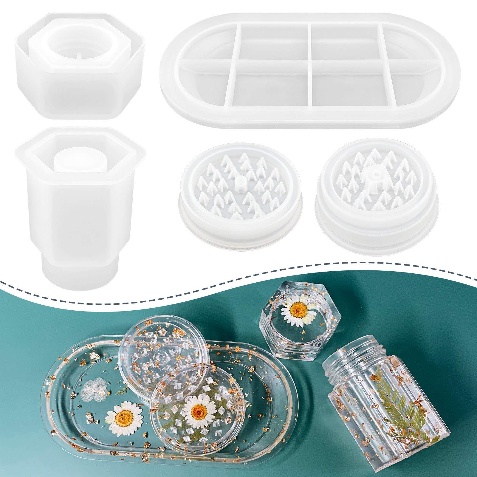 3 piezas de Kit Grinder de silicona grande para resina