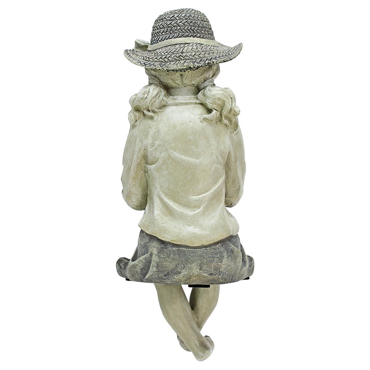 Design Toscano EU9305 Big Catch Fisherwoman Girl Fishing Garden Statue, Two Tone Stone