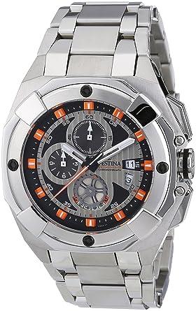 753d54bbb3b Festina - F16351 7 - Montre Homme - Quartz - Chronographe - Bracelet Acier  Inoxydable