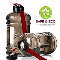 Shineshin Réservoir Bouteille d'eau de 2.2litre Carafe avec bouchon en acier inoxydable pour salle de sport randonnée et bureau, sans BPA