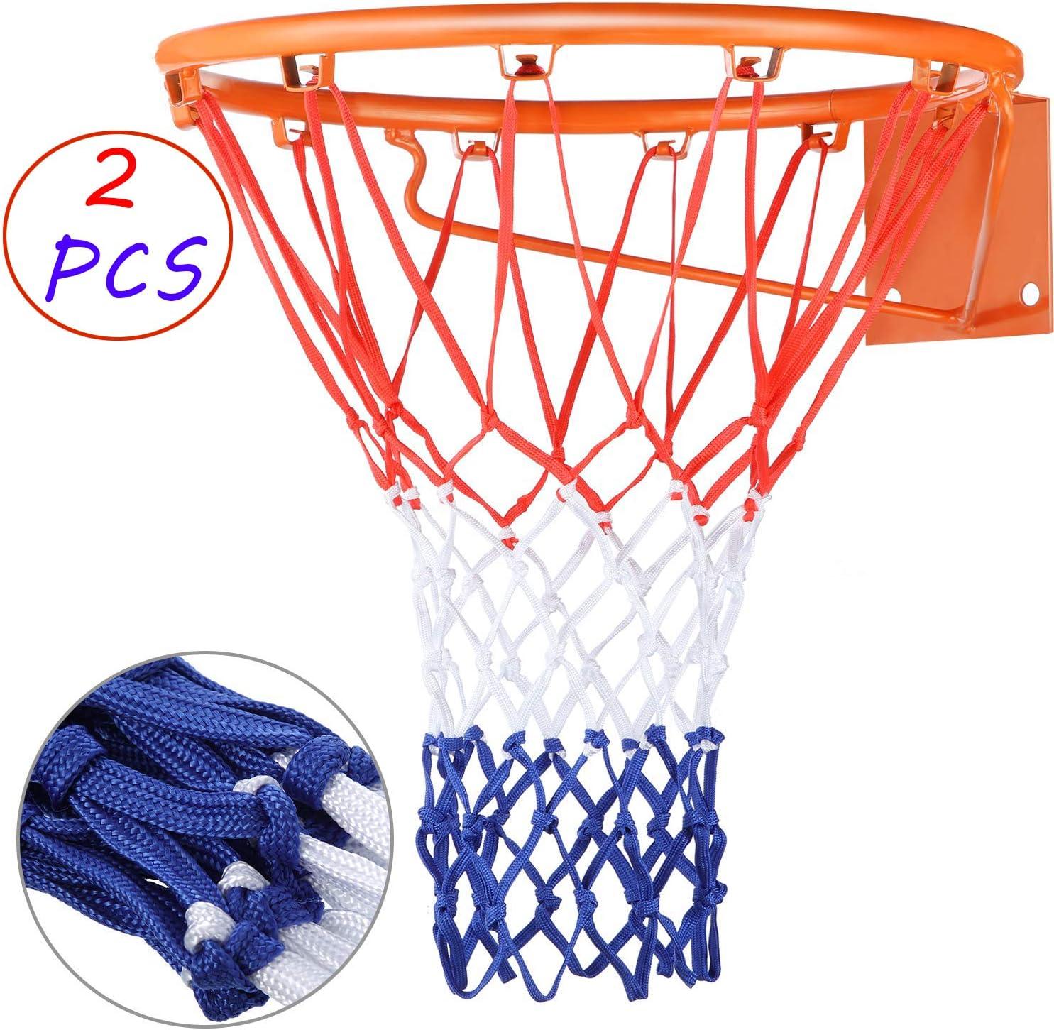 ZONE FR Set de 2 Malla de Baloncesto de 12 Bucle, Canasta ...