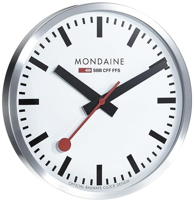 Mondaine Clock Swiss Railways Wall Clock stainless steel Amazon