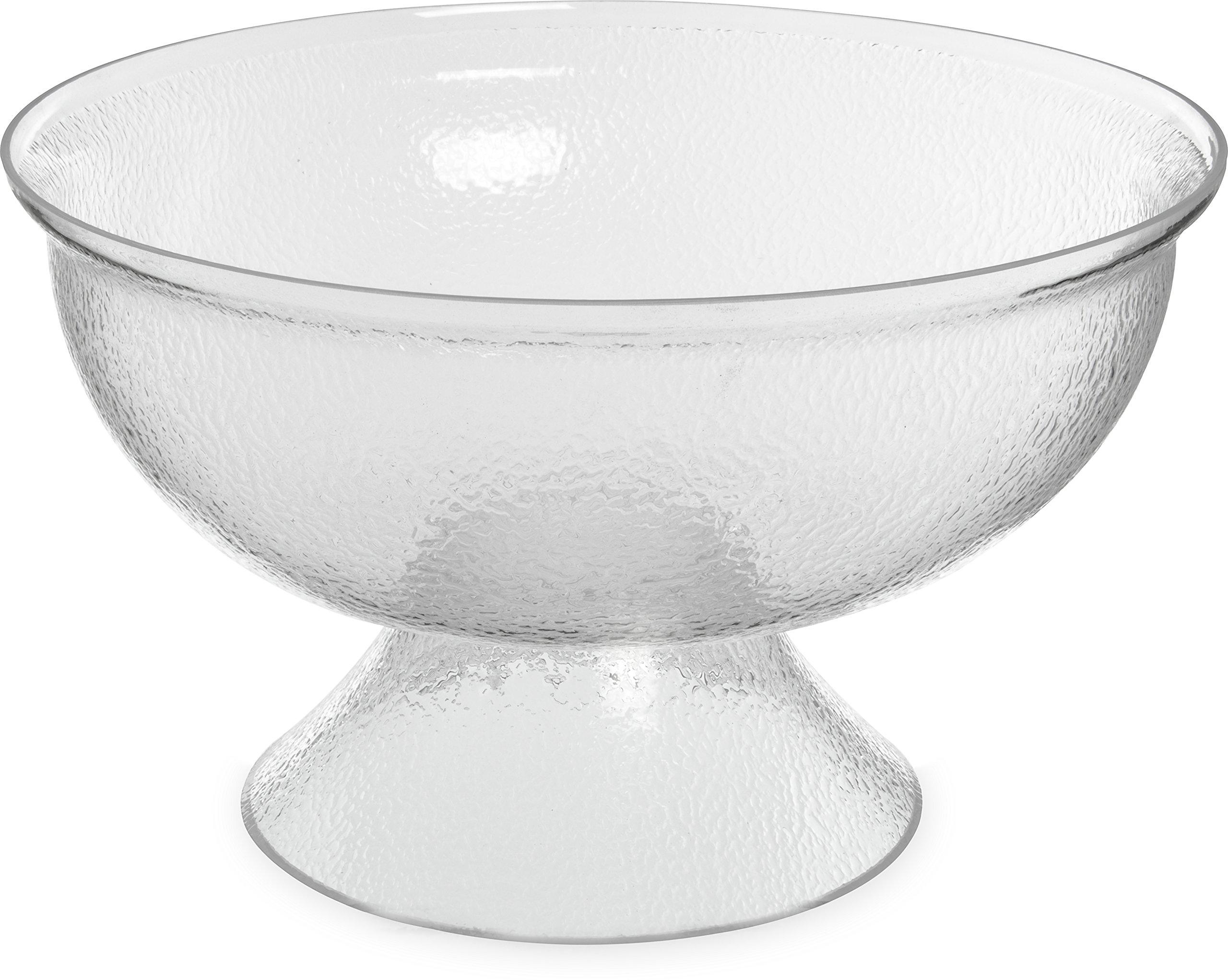 Carlisle SP1807 Acrylic Pebbled Punch Bowl, 16-qt. Capacity, 17.75'' Diameter x 10.63'' Overall Height x 6.5'' Depth, Clear