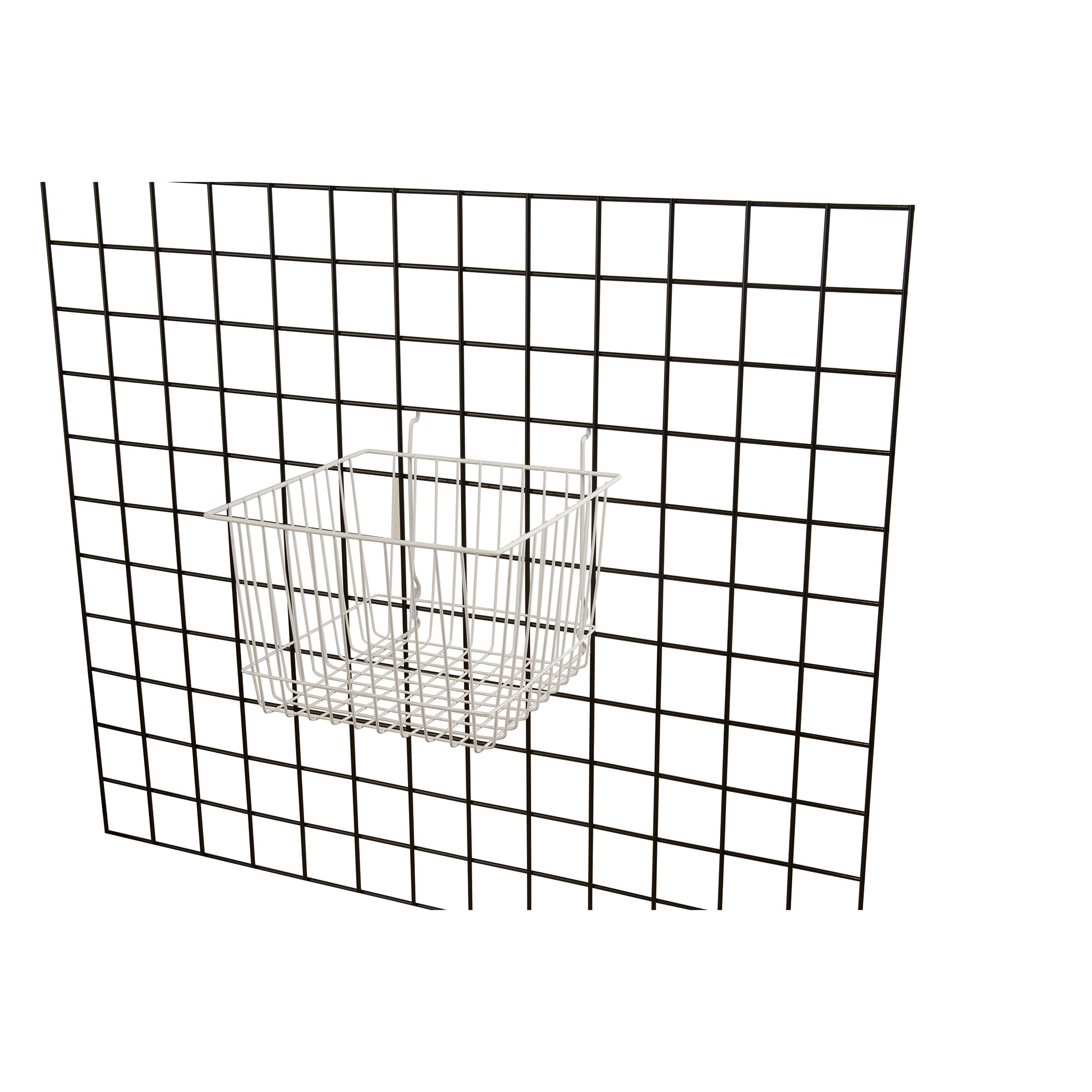 Wire Basket for Slatwall, Gridwall or Pegboard -Box of 6 - 12''W x 12''D x 8''H Deep Basket by Unknown (Image #1)