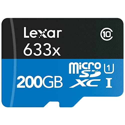 Lexar High Performance Tarjeta de Memoria 633x microSDXC de 200 GB