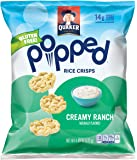 Quaker Popped Rice Crisp Snacks, Gluten Free, Creamy Ranch, 6.06 Ounce Bag