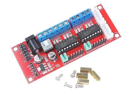 NOYITO L293D Dual-H Bridge Motor Driver Module for Arduino