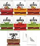 Dukes Smoked Shorty Sausage Sticks 7 Pack - All 7 Dukes Flavors Variety Bundle + Napkins