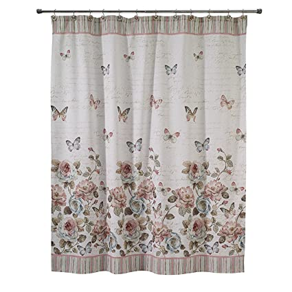 Avanti Linens Butterfly Garden Shower Curtain