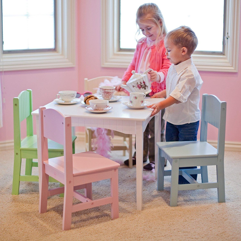 トップ販売最も人気子供用幼児用木製テーブル椅子FunアクティビティWork station-美しい明るいパステルcolors- Perfect forティーパーティ宿題Games Hobbiesその他メーカーFun for Boys Girls All Ages B01MS5NGM8
