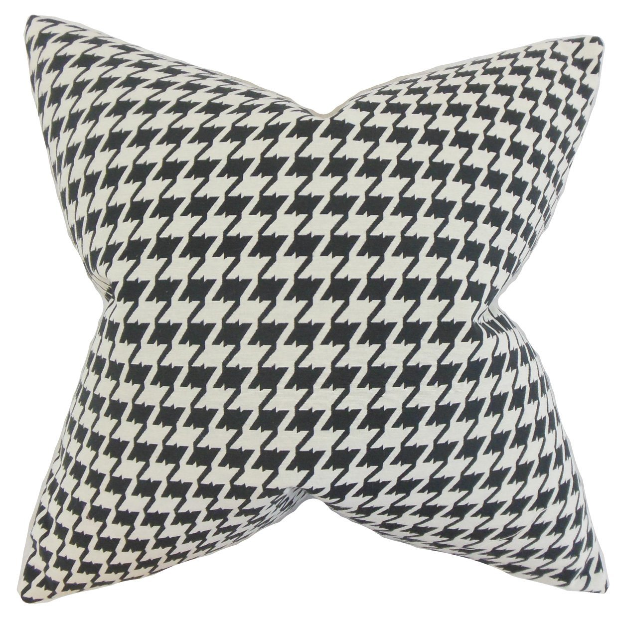 The Pillow Collection Presley Houndstooth Bedding Sham Black Queen//20 x 30