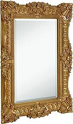 Hamilton Hills Large Ornate Gold Baroque Frame Mirror | Aged Luxury